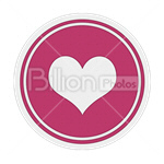 Сlipart heart heart shape love loving heart button vector icon cut out BillionPhotos