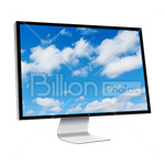 Сlipart Computer Monitor Computer Liquid-Crystal Display Visual Screen Flat Screen vector icon cut out BillionPhotos