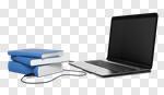 Сlipart Library Book Computer Internet Laptop 3d cut out BillionPhotos