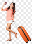 Сlipart Travel Luggage Suitcase Women Airport photo cut out BillionPhotos