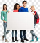 Сlipart youth white group board advertisement photo cut out BillionPhotos