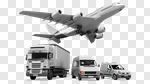 Сlipart Truck Freight Transportation Convoy Messenger Van 3d cut out BillionPhotos