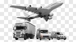 Сlipart Truck Freight Transportation Convoy Messenger Van 3d cut out BillionPhotos