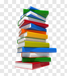 Сlipart Book Education Stack Learning Multi Colored 3d cut out BillionPhotos