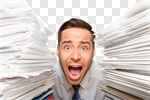 Сlipart Emotional Stress Exhaustion Document Paperwork Office photo cut out BillionPhotos