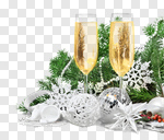 Сlipart champagne wine new year holiday toast photo cut out BillionPhotos
