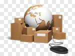 Сlipart Shipping Freight Transportation E-commerce Box Transportation 3d cut out BillionPhotos