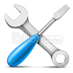 Сlipart work tool wrench screwdriver wrench and screwdriver screwdriver and wrench vector icon cut out BillionPhotos