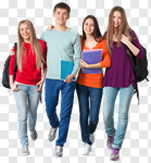 Сlipart Student College Student Teenager Teenagers Only Group Of People photo cut out BillionPhotos