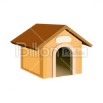 Сlipart Kennel In The Dog House House vector icon cut out BillionPhotos