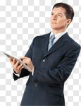 Сlipart business blue businessman check communication photo cut out BillionPhotos