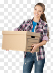 Сlipart Box Moving House Relocation Women Holding photo cut out BillionPhotos