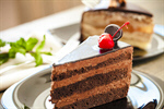 Сlipart cake dark dish slice plate photo  BillionPhotos