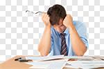 Сlipart Emotional Stress Bankruptcy Finance Debt Despair photo cut out BillionPhotos