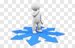 Сlipart Choice Lost Uncertainty Three-dimensional Shape Question Mark 3d cut out BillionPhotos