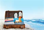 Сlipart open suitcase travel traveler pack sunscreen   BillionPhotos