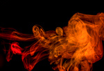Сlipart Smoke Abstract Shape Gray Red photo  BillionPhotos