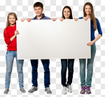Сlipart Sign Student College Student Holding Teenager photo cut out BillionPhotos