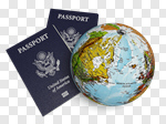 Сlipart Passport Travel Tourism Travel Destinations Globe 3d cut out BillionPhotos