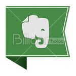 Сlipart evernote Sharing Social Media social button Bookmark vector icon cut out BillionPhotos