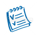 Сlipart check checkbox checklist document examining vector icon cut out BillionPhotos