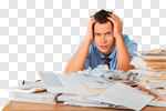 Сlipart Emotional Stress Working Occupation Depression Paperwork photo cut out BillionPhotos