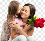 Сlipart mother flower give child daughter photo cut out BillionPhotos