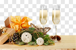 Сlipart new year holiday drink gift photo cut out BillionPhotos