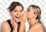 Сlipart Whispering Women Friendship Gossip Secrecy photo cut out BillionPhotos