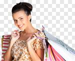 Сlipart Shopping Christmas Women Gift Retail photo cut out BillionPhotos