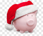 Сlipart Christmas Holiday Piggy Bank Home Finances Savings photo cut out BillionPhotos