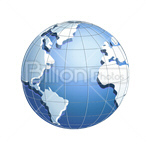 Сlipart globe earth world blue planet vector icon cut out BillionPhotos