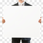 Сlipart holding blank card sign men photo cut out BillionPhotos