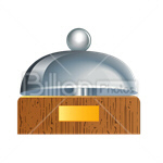 Сlipart Tray Silverware Serving Dish place setting cover vector icon cut out BillionPhotos