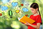 Сlipart Reading Child Book Little Boys Little Girls   BillionPhotos
