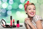 Сlipart Woman and cosmetics on the table model woman hairband pin   BillionPhotos
