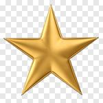 Сlipart Star Star Shape Gold Gold Symbol 3d cut out BillionPhotos