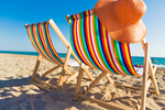 Сlipart deck beach chair uk blue photo  BillionPhotos