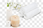 Сlipart Spa Treatment Candle Towel Wellbeing Flower photo cut out BillionPhotos
