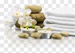 Сlipart Spa Treatment Towel Candle Health Spa Single Flower photo cut out BillionPhotos