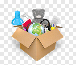 Сlipart Box Moving House Toy Moving Office House 3d cut out BillionPhotos