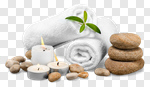 Сlipart Spa Treatment Towel Candle Wellbeing Stone photo cut out BillionPhotos