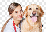 Сlipart veterinarian vet dog doctor pet photo cut out BillionPhotos