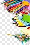 Сlipart school isolated crayons white collage photo cut out BillionPhotos