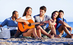 Сlipart friends fun summer guitar beach photo  BillionPhotos