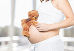 Сlipart pregnant mom new white bear   BillionPhotos