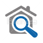 Сlipart Search Searching Magnifying Glass House Real Estate vector icon cut out BillionPhotos
