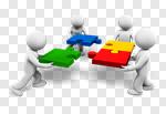 Сlipart Teamwork Puzzle Partnership Cooperation Community 3d cut out BillionPhotos