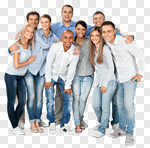 Сlipart Group Of People People Friendship Crowd Happiness photo cut out BillionPhotos