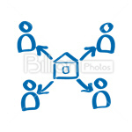 Сlipart Network Computer Network Network Connection Network Server Internet vector icon cut out BillionPhotos